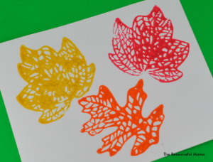 This fall leaf stamp project is a great activity for kids.