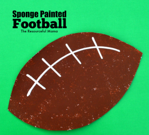 sponge painted football great art & craft project for kids