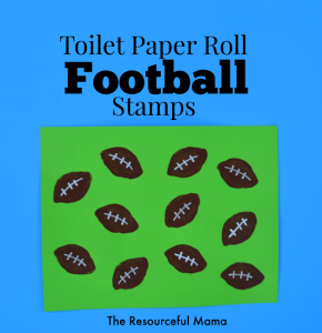 toilet paper roll football craft for kids