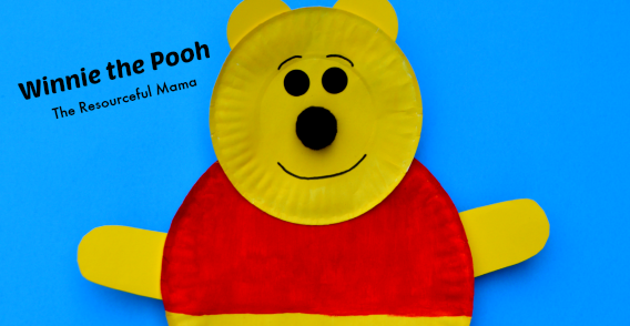 & Winnie the Pooh Paper Plate Craft - The Resourceful Mama