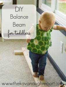 DIY balance beam featured at made for kids