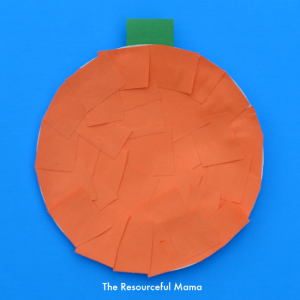 Easy pumpkin craft for kids made with paper plate