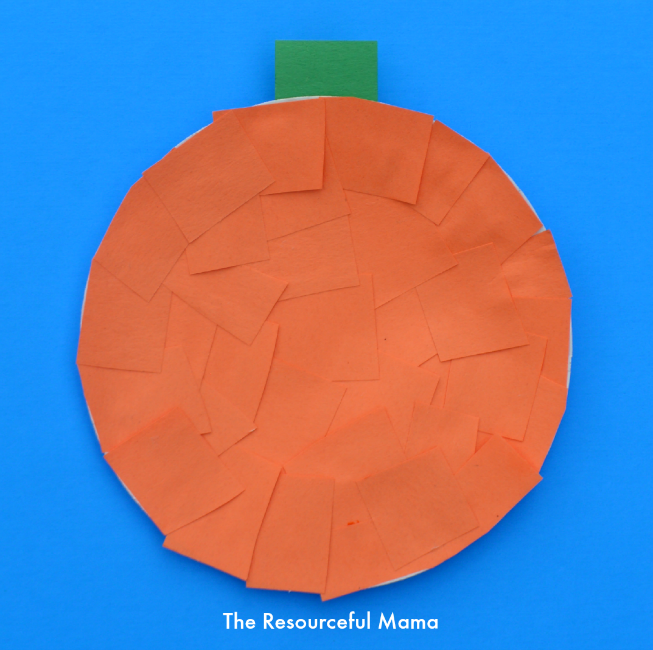 Easy Paper Plate Pumpkin Craft The Resourceful Mama