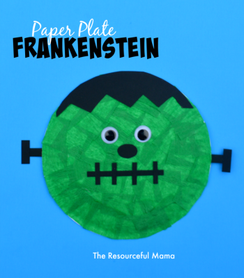 Paper Plate Frankenstein Kid Craft