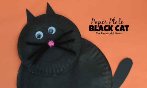 black cat paper craft paper plate black cat kid craft the resourceful 3458