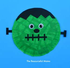 Paper Plate Frankenstein Kid Craft-great Halloween craft for kids