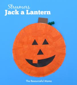 Jack a lantern kid craft for Halloween