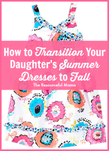 Great for transitioning your daughter's summer dresses to Fall.