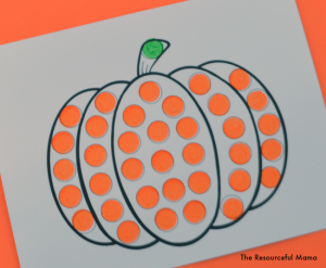 Do a dot pumpkin free printable worksheet