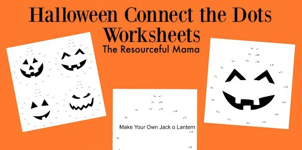 Halloween Connect the Dots Worksheets The Resourceful Mama – Connect the Dots Worksheets
