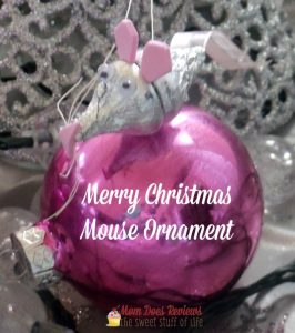 homemade mouse ornament