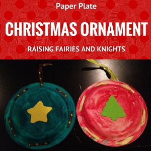paper plate Christmas oranment