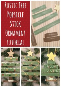 Rustic Popsicle Stick Ornament