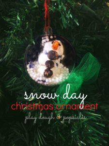 Homemade snowman Christmas oranment
