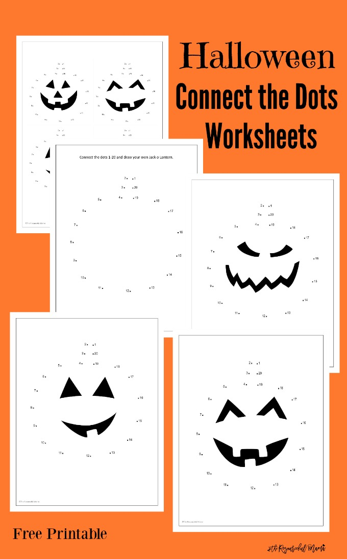Free printable Halloween Jack O Lantern connect the dots worksheets. kindergarten | preschool | fall | pumpkins
