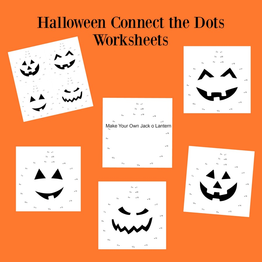 halloween connect the dots worksheets the resourceful mama