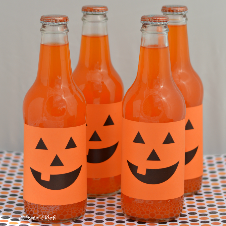 super easy jack o' lantern halloween drinks - the resourceful mama