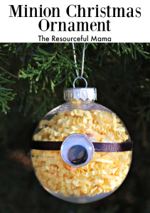 Minion Kid Christmas Ornament