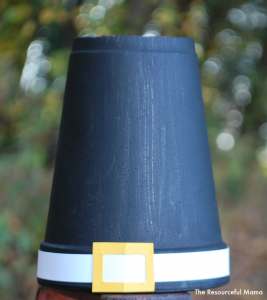 Styrofoam cup pilgrim hat kid craft for Thanksgiving