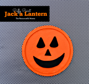 Puffy Paint Jack a Lantern Kid Craft