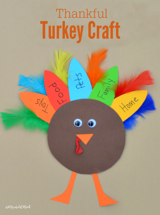 Thankful turkey kid craft and book the resourceful mama for Thanksgiving craft ideas for kindergarten
