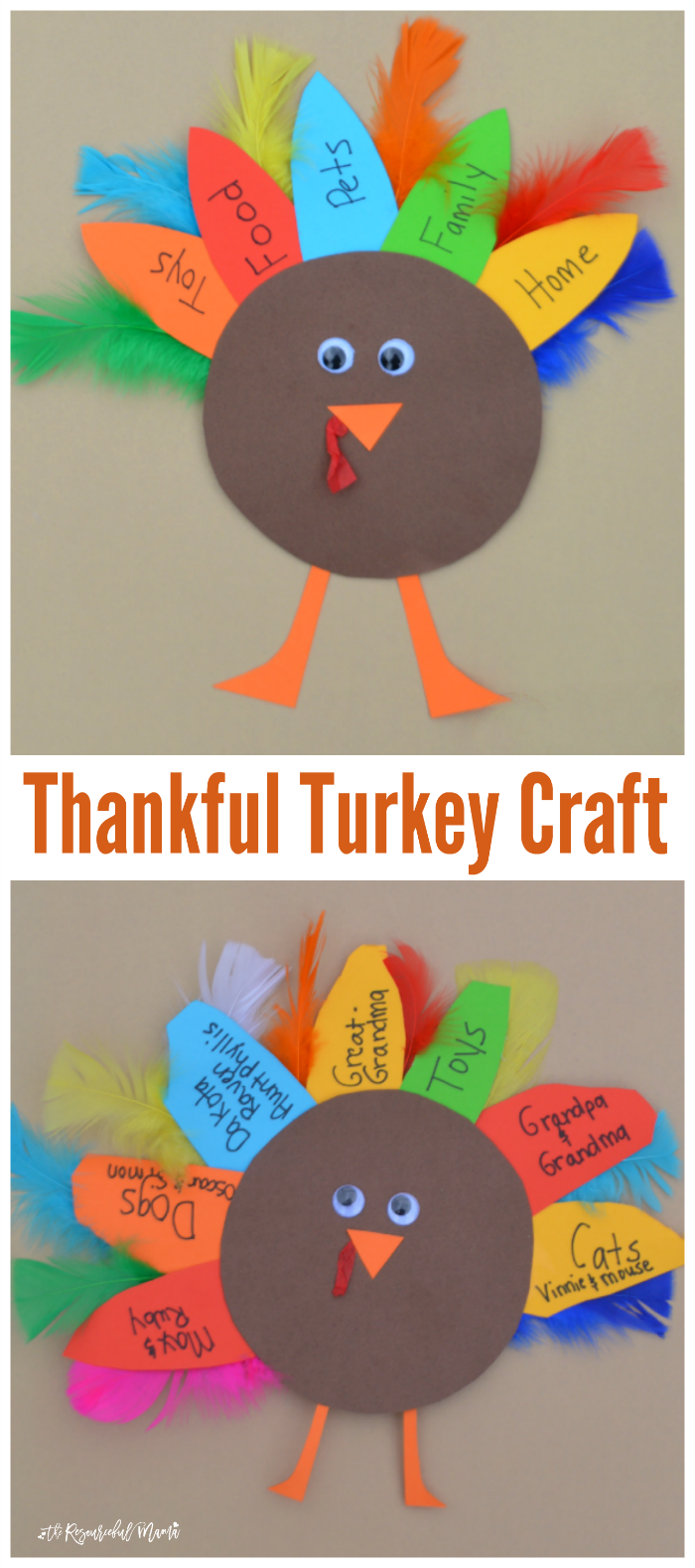 november arts and crafts ideas thankful turkey kid craft and book the resourceful 6966