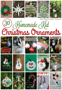 30 homemade kid christmas ornaments