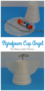 Styrofoam Cup Christmas Angel Craft for Kids