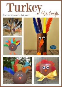 Turkey Kid Crafts for Thanksgiving