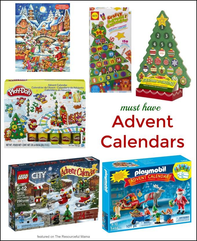 Countdown to Christmas with this fun kids advent calendars. Lego | Playmobil | Alex Toys | Melissa & Doug | chocolate | Play-Doh