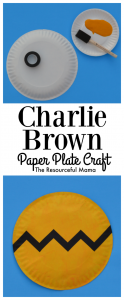 Paper Plate Charlie Brown Kid Craft