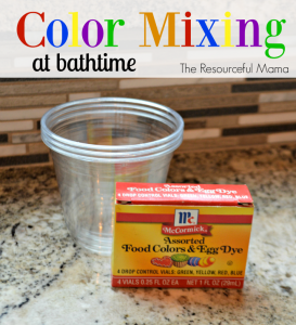 Make bathtime fun with color mixing.