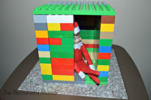 Elf on the Shelf built a Lego house for himself