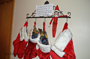 Elf on the Shelf stuck a surprise in the Christmas stockings