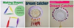 Kid crafts and activities using feathers