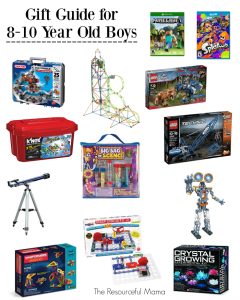 Gift guide for 8-10 year old tween boys-great ideas for Christmas gifts