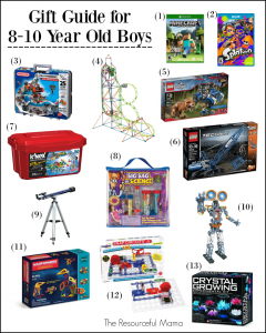 Love these gift ideas for 8-10 year old boys. Great ideas for Christmas or birthday presents. tween | STEM | science | video games | building