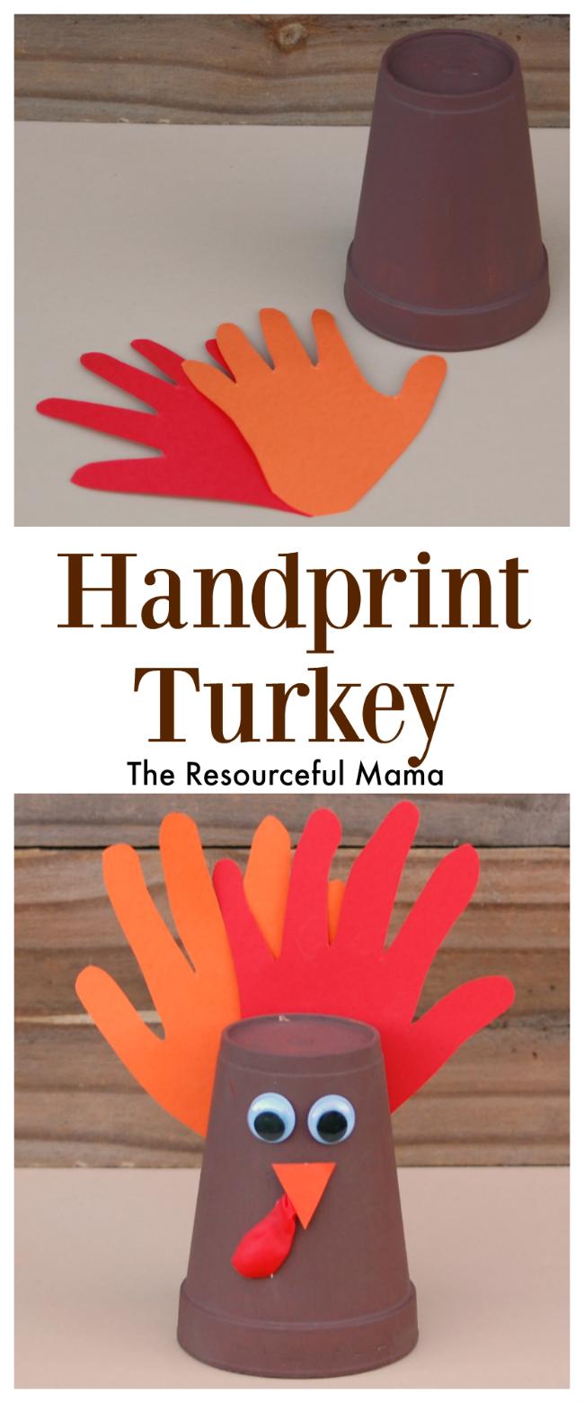 Handprint Thanksgiving Turkey Kid Craft