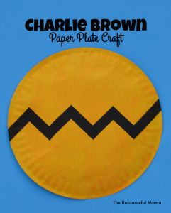 Charlie Brown Paper Plate Kid Craft