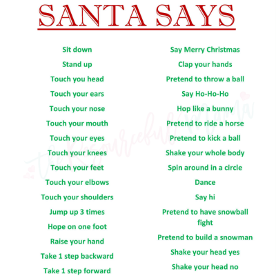 Santa Says Game for Christmas Parties {FREE PRINTABLE}