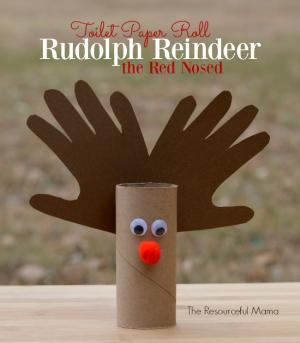 Toilet Paper Roll Reindeer Kid Craft