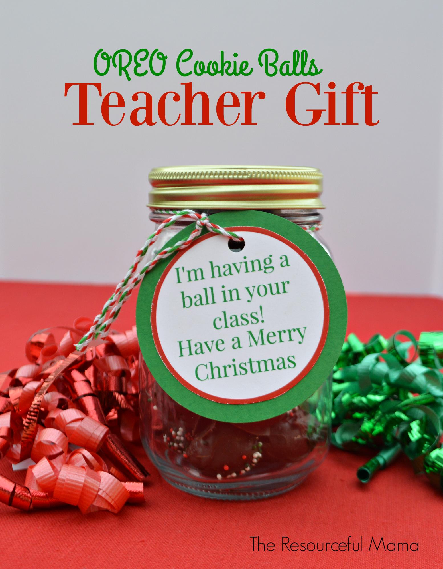 Oreo Cookie Balls Teacher Gifts