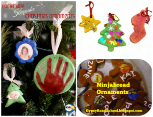 Homemade kid Christmas Ornaments