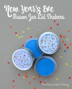 Fun New Year's Eve activity for kids! Make shakers/noisemakers from Mason jar lids.
