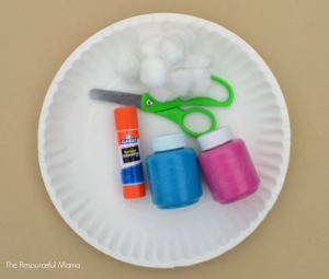 Paper plate winter hat craft for kids