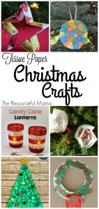 Tissue paper Christmas kid crafts