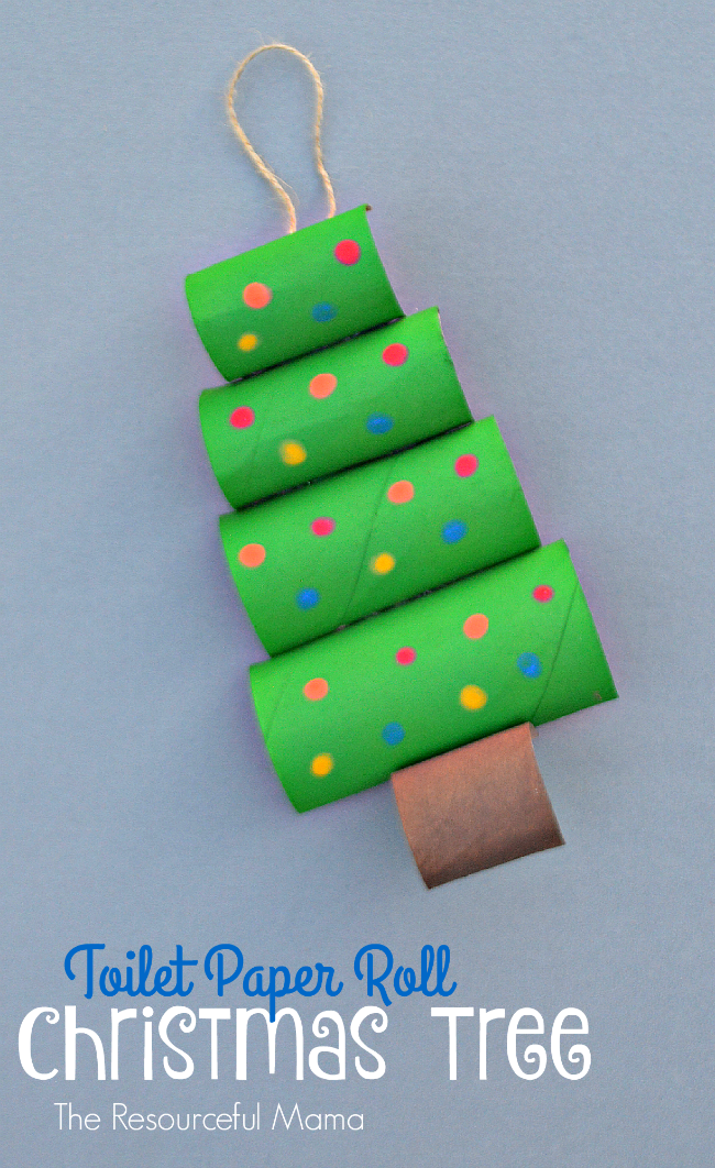 Upcycle Your Toilet Paper Rolls Into This Fun And Easy Christmas Craft Or Ornament For Kids