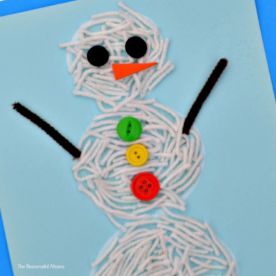 Yarn Snowman Craft for Kids