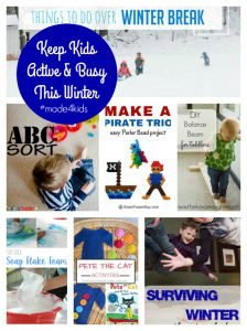 Keep kids busy and active this winter with this fun activities featured at #made4kids.
