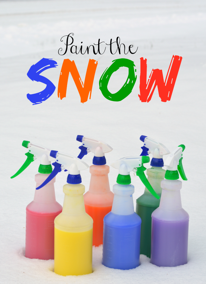 Painting the snow is a fun wintertime snow activity with this DIY snow paint.